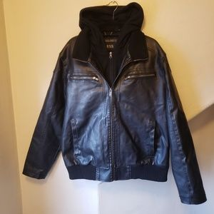 Guess faux-leather jacket